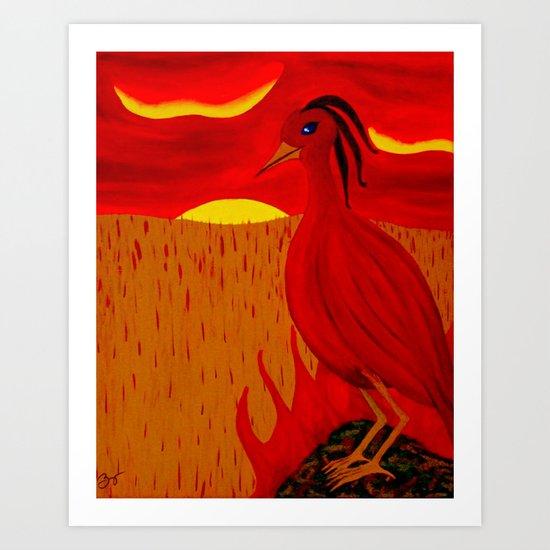 Perched Phoenix Art Print
