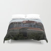 portugal Duvet Covers featuring Porto Portugal  by Sanchez Grande