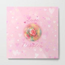 Love Nipples with Devon DeVille666 Metal Print