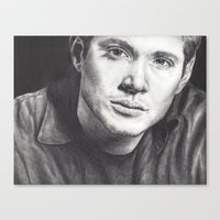 winchester Canvas Prints featuring Dean Winchester by Kristy Fleming
