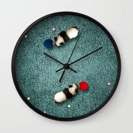 Ping Pong Pandas Wall Clock