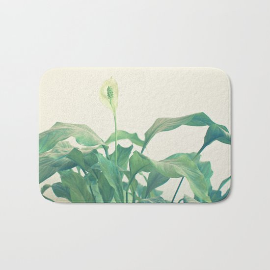 Peace Lily Bath Mat