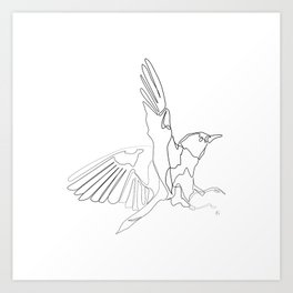 """ Animals Collection "" -One Line Minimal Bird Print Art Print"