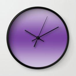 Pastel Violet to Violet Horizontal Bilinear Gradient Wall Clock