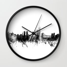 Oslo Norway Skyline Wall Clock