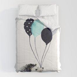 Hedgehog With Balloons Comforters