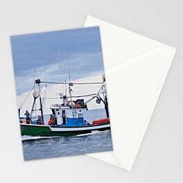 Traditional fishing boat off Tenerife in the Canary Islands Stationery Cards