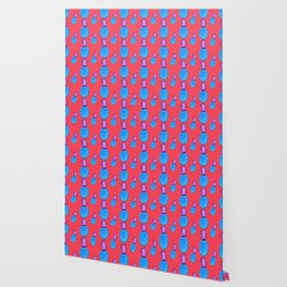 Tropical Punch, Pineapple Pattern Wallpaper