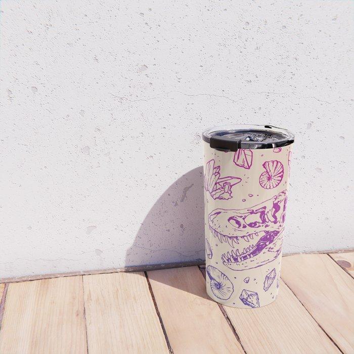 Geo-rex Vortex | Magenta & Purple Ombré Travel Mug