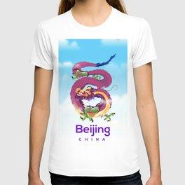 Beijing China Dragon travel poster T-shirt