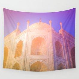 Morning Light Reflexion at Taj Mahal Wall Tapestry