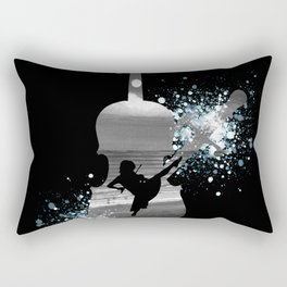 Let The Music Play - Black and White Rectangular Pillow