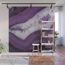 Purple Agate Slice Wall Mural