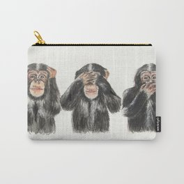 Hear No Evil, See No Evil, Speak No Evil Carry-All Pouch