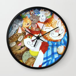 Conga Kitties Wall Clock