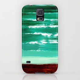 Turquoise Horizon iPhone Case