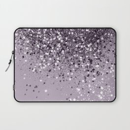 Sparkling Lavender Lady Glitter #2 #shiny #decor #art #society6 Laptop Sleeve