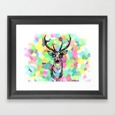 Deer are people too Framed Art Print