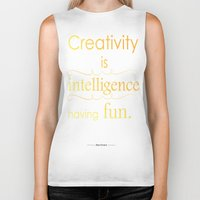 creativity Biker Tanks featuring Creativity by Cecilie