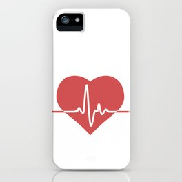 Heart with Cardiogram iPhone Case