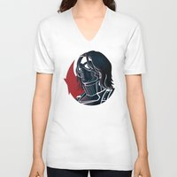 bucky V-neck T-shirts featuring Bucky by Charleighkat