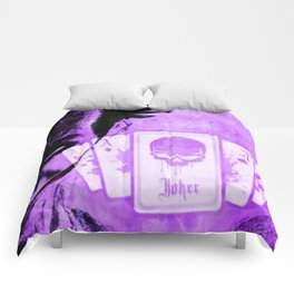 Purple Jokester Comforters