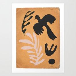 abstract minimal /bird Art Print