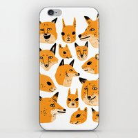 woodland iPhone & iPod Skins featuring Woodland by Jack Teagle