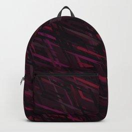 Diagonal Streaks Abstract in Ruby Red Backpack