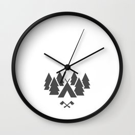 Want to Go Camping Adventure Nature Great Outdoors Wall Clock
