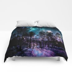 One Magical Night... (teal & purple) Comforters