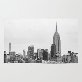 The New York Cityscape City (Black and White) Rug