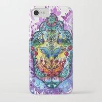 hamsa iPhone & iPod Cases featuring Hamsa by oxana zaika