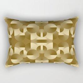Circles Collide Rectangular Pillow