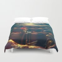 hand Duvet Covers featuring Someday by Alice X. Zhang