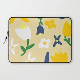 Yellow and Blue Daisy May Pattern Laptop Sleeve