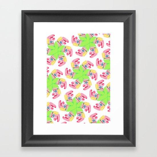 Punchy Colours Framed Art Print