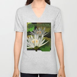 Yoga-There is always room for change, but you have to be open to that change Inspirational Shirt Unisex V-Neck