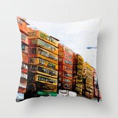 Streets of Hong Kong I Throw Pillow