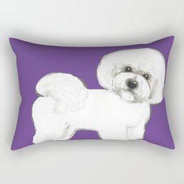 Bichon Frise dog on Ultraviolet Rectangular Pillow