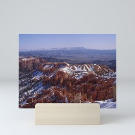 Bryce Canyon National Park Covered With Snow Mini Art Print