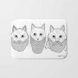 Cats With Beards Bath Mat