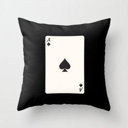 Ace of Spades Card Throw Pillow