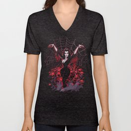 Web of Vampira Unisex V-Neck