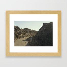 lava rock path Framed Art Print