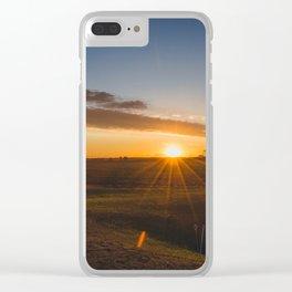 Summer Solstice Sunset, North Dakota 1 Clear iPhone Case