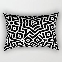 City plan, abstract bw Rectangular Pillow