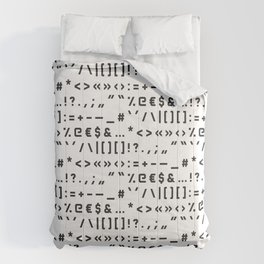 Typography Special Characters Pattern #1 Comforters
