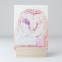 Owl in pastel Mini Art Print