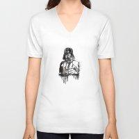 darth vader V-neck T-shirts featuring Darth Vader by Jon Hernandez